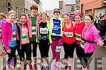 Olga Slattery, Caroline Lynch, Frances Quinn, Lorna Brassil White, Catherine Costello', Fiona O'Connor, Tracy Smith and Kathy Jordan at the start of the Kerry's Eye Tralee, Tralee Half Marathon on Saturday.