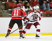 Mike McKenzie (St. Lawrence - 11), Danny Biega (Harvard - 9) - The St. Lawrence University Saints defeated the Harvard University Crimson 3-2 on Friday, November 20, 2009, at the Bright Hockey Center in Cambridge, Massachusetts.