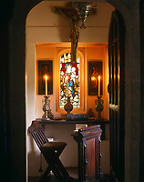 View through to the small chapel in the south-east tower which adjoins the State Bedroom