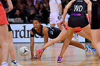 Silver Ferns' Temalisi Fakahokotau in action during the International Netball - NZ Silver Ferns v England Roses at Te Rauparaha Arena, Porirua, New Zealand on Thursday 7 September 2017.<br /> Photo by Masanori Udagawa. <br /> www.photowellington.photoshelter.com