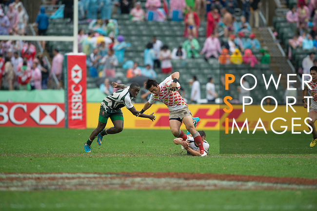 Zimbabwe vs Japan during the HSBC Hong Kong Rugby Sevens 2016 on 10 April 2016 at Hong Kong Stadium in Hong Kong, China. Photo by Li Man Yuen / Power Sport Images