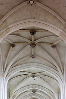OISE, FRANCE - OCTOBER 26: Detail of rib vault of the ceiling of the Cathedral Notre-Dame de Senlis on October 26, 2008 in Oise, France. The cathedral was built between 1153 and 1191. (Photo by Manuel Cohen)