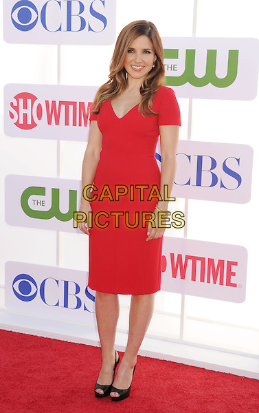 Sophia Bush.CBS, CW, Showtime 2012 Summer TCA Party held at The Beverly Hilton Hotel, Beverly Hills, California, USA..July 29th, 2012.full length dress red black peep toe shoes .CAP/ROT/TM.©Tony Michaels/Roth Stock/Capital Pictures