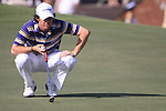 Rory McIlroy lines up his putt on the 9th green during  Day 3 at the Dubai World Championship Golf in Jumeirah, Earth Course, Golf Estates, Dubai  UAE, 21st November 2009 (Photo by Eoin Clarke/GOLFFILE)