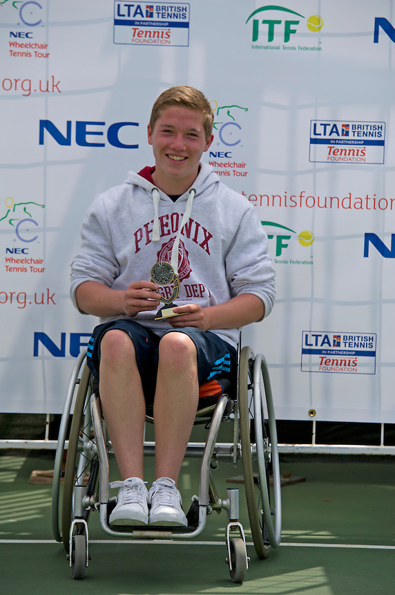 ..Tennis - British Open Wheelchair Tennis Championships - Sunday 22nd July 2012 - Nottingham Tennis Centre - Nottingham..© James Jordan, Studio 8, 19 Girdlers Road, London, W14 0PS