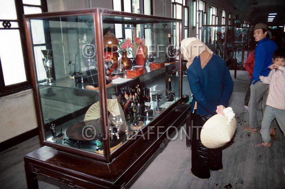 Hanoi, February 1988. Articraft Museum in Hanoi.