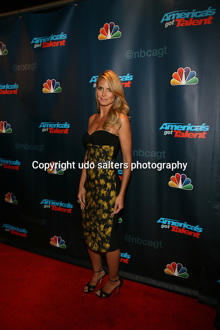 Judge Heidi Klum at America's Got Talent Post Show Red Carpet at Radio City Music Hall, NY