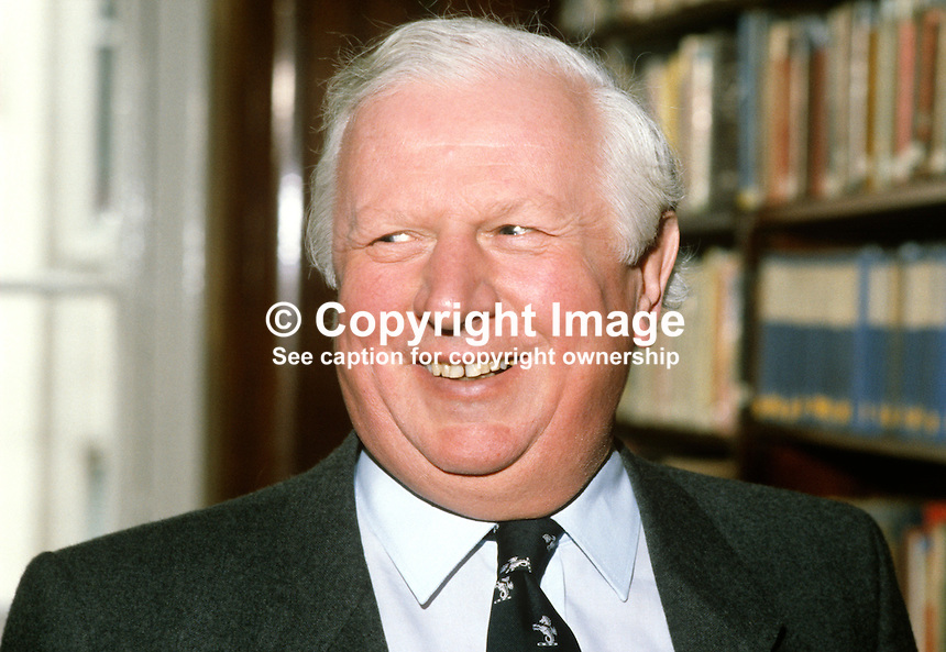 James Prior, Secretary of State for N Ireland, MP, Conservative Party, UK, 19849927JP1.<br />
