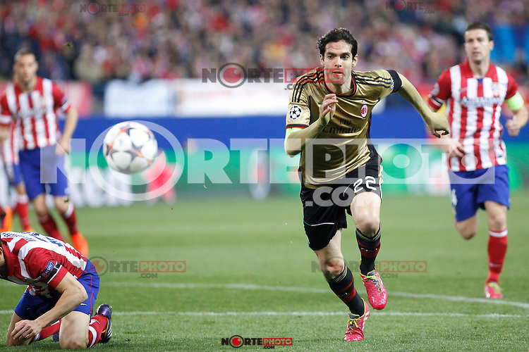 Milan´s Kaka during 16th Champions League soccer match at Vicente Calderon stadium in Madrid, Spain. January 06, 2014. (ALTERPHOTOS/Victor Blanco)