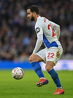 Brighton & Hove Albion's Martin Montoya <br /> <br /> Photographer David Horton/CameraSport<br /> <br /> Emirates FA Cup Fourth Round - Brighton and Hove Albion v West Bromwich Albion - Saturday 26th January 2019 - The Amex Stadium - Brighton<br />  <br /> World Copyright © 2019 CameraSport. All rights reserved. 43 Linden Ave. Countesthorpe. Leicester. England. LE8 5PG - Tel: +44 (0) 116 277 4147 - admin@camerasport.com - www.camerasport.com