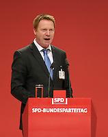 SPD Bundesparteitag im Congress Center Leipzig (CCL) an der Neuen Messe in Leipzig vom 14.11.-16.11.2013 - im Bild: Thüringens SPD-Chef Christoph Matschie.<br />  Foto: Norman Rembarz