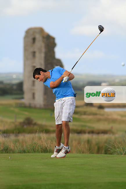 Paul Coughlan (Moate) on the 13th tee during the South of Ireland Amateur Open Championship Second Round at Lahinch Golf Club  28th July 2013 <br /> Picture:  Thos Caffrey / www.golffile.ie