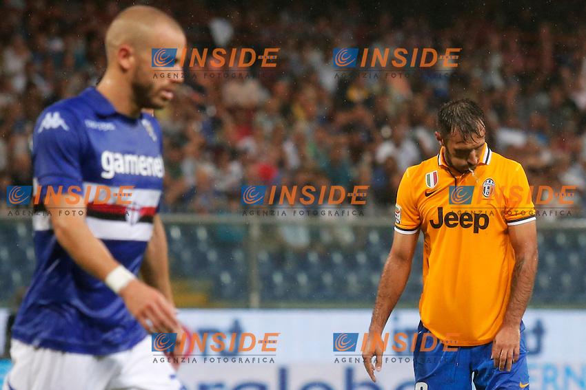Mirko Vucinic Juventus,<br /> Genova 24/8/2013<br /> Stadio &quot;Luigi Ferraris&quot; <br /> Football Calcio 2013/2014 Serie A <br /> Sampdoria - Juventus <br /> Foto Marco Bertorello Insidefoto