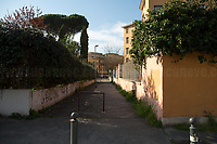 School: closed.<br /> <br /> Rome, 18/03/2020. Rome's Olympic Village district under the Italian Government lockdown for the Outbreak of the Coronavirus SARS-CoV-2 - COVID-19. On the 22nd March, the Italian PM Giuseppe Conte signed a new Decree Law which suspends non-essential industry productions and contains the list of allowed working activities, which includes Pharmaceutical & food Industry, oil & gas extraction, clothes & fabric, tobacco, transports, postal & banking services (timetables & number of agencies reduced), delivery, security, hotels, communication & info services, architecture & engineer, IT manufacturers & shops, call centers, domestic personnel (1.).<br /> Updates: Italy: 22.03.20, 6:00PM: 46.638 positive cases; 7.024 recovered; 5.476 died.<br /> <br /> The Rome's Olympic Village (1957-1960) was designed by: V. Cafiero, A. Libera, A. Luccichenti, V. Monaco, L. Moretti. «Built to host the approximately 8,000 athletes involved in the 1960 Olympic Games, Rome's Olympic Village is a residential complex located between Via Flaminia, the slopes of Villa Glori and Monti Parioli. It was converted into public housing [6500 inhabitants, ndr] at the end of the sporting event. The intervention is an example of organic settlement, characterized by a strong formal homogeneity, consistent with the Modern Movement's principles of urbanism. The different architectural structures are made uniform by the use of some common elements: the pilotis, ribbon windows, concrete stringcourses, and yellow brick curtain covering. At the center of the neighborhood, the Corso Francia viaduct - a road bridge about one kilometer long - was built by Pier Luigi Nervi […]» (2.).<br /> <br /> Info about COVID-19 in Italy: http://bit.do/fzRVu (ITA) - http://bit.do/fzRV5 (ENG)<br /> 1. March 22nd Decree Law http://bit.do/fFwJn (ITA)<br /> 2. (Atlantearchitetture.beniculturali.it MiBACT, ITA - ENG) http://bit.do/fFw3H<br /> 12.03.20 Rome's Lockdown for the Outbreak of the Coronavirus SAR