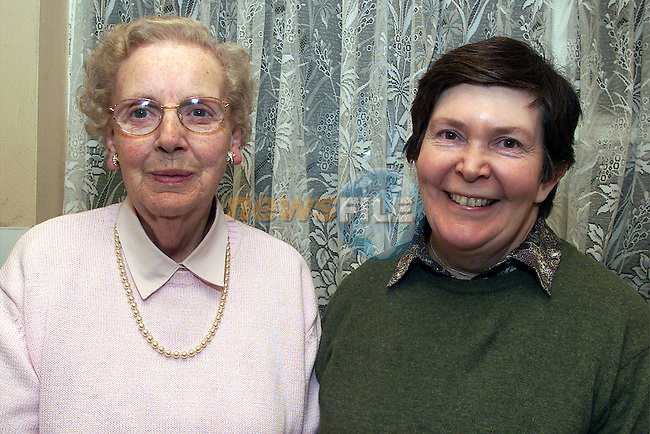 Monty Gogan and Catriona Dillon, Duleek, volunteers who organise the senior citizens party at the Duleek Parish Centre..pic:Arthur Carron/ Newsfile
