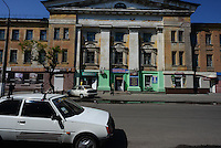 Empty streets of Slavyansk during the besiege of the Kiev forces
