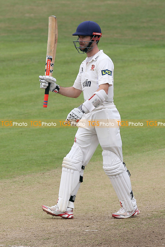 James Foster of Essex celebrates his fifty - Leicestershire CCC vs Essex CCC - LV County Championship Division Two Cricket at Grace Road, Leicester - 16/09/14 - MANDATORY CREDIT: Gavin Ellis/TGSPHOTO - Self billing applies where appropriate - contact@tgsphoto.co.uk - NO UNPAID USE