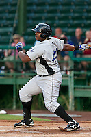 Michael McDade of the Dunedin Blue Jays during the game at Jackie Robinson Ballpark in Daytona Beach, Florida on August 14, 2010. Photo By Scott Jontes/Four Seam Images