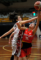 Action from the 2017 national under-19 basketball championship tournament women's final between Canterbury and Waikato at The North Shore Events Centre in Hillcrest, Auckland, New Zealand on Tuesday, 6 June 2017. Photo: Dave Lintott / lintottphoto.co.nz