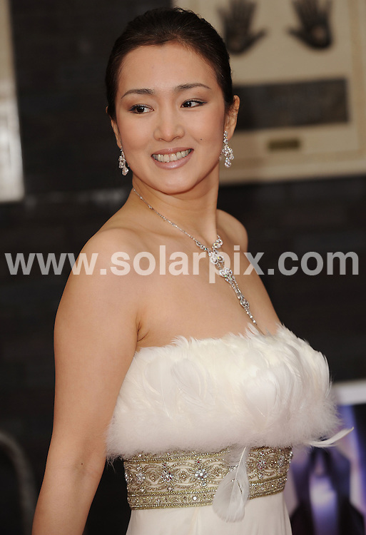 **ALL ROUND PICTURES FROM SOLARPIX.COM** **WORLDWIDE SYNDICATION RIGHTS** .Red carpet arrivals at Britain's Best 2008. Held at the London Studios, Upper Ground, London. 18 May 2008. ..This pic: Gong Li..JOB REF: 6438 SSD DATE: 18_05_2008 **MUST CREDIT SOLARPIX.COM OR DOUBLE FEE WILL BE CHARGED* *UNDER NO CIRCUMSTANCES IS THIS IMAGE TO BE REPRODUCED FOR ANY ONLINE EDITION WITHOUT PRIOR PERMISSION*