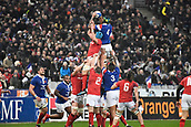 February 1st 2019, St Denis, Paris, France: 6 Nations rugby tournament, France versus Wales;  Lineout won by Vanhamaahina of France