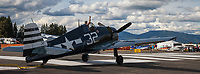 Grumman F6F-5 Hellcat Fighter Aircraft, Arlington Fly-In 2016, Washington State, USA.