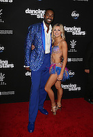 "Los Angeles, CA - NOVEMBER 22: Calvin Johnson Jr., Lindsay Arnold, At ABC's ""Dancing With The Stars"" Season 23 Finale At The Grove, California on November 22, 2016. Credit: Faye Sadou/MediaPunch"