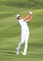 2nd February 2020, TPC Scottsdale, Arizona, USA;  Tony Finau hits an approach shot on the second hole during the final round of the Waste Management Phoenix Open