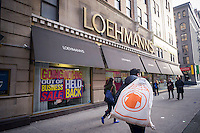 The  Loehmann's department store in the Chelsea neighborhood of New York on Saturday, February 1, 2014.The women's clothing retailer which filed for bankruptcy protection for the third time has been finally given approval by the court to liquidate and have its going out of business sale.. The off-price merchandiser faced the same problems that besieged its defunct rivals, Sym's, Filene's and Daffy's, the production of goods has been streamlined by computerization resulting in less excess inventory that manufacturers must unload.  (© Richard B. Levine)
