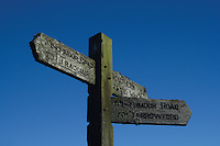 Minchmoor Road and Southern Upland Way Signpost above the village of Yarrowford, Scottish Borders<br /> <br /> Copyright www.scottishhorizons.co.uk/Keith Fergus 2011 All Rights Reserved