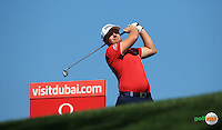 Tyrrell Hatton (ENG) during the Final Round of the 2016 Omega Dubai Desert Classic, played on the Emirates Golf Club, Dubai, United Arab Emirates.  07/02/2016. Picture: Golffile | David Lloyd<br /> <br /> All photos usage must carry mandatory copyright credit (&copy; Golffile | David Lloyd)
