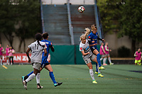 Seattle, WA - Sunday August 13, 2017: Makenzy Doniak, Lauren Barnes during a regular season National Women's Soccer League (NWSL) match between the Seattle Reign FC and the North Carolina Courage at Memorial Stadium.