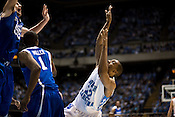 November 18, 2008. Chapel Hill, NC..UNC vs. Kentucky, at the Dean Smith Center in Chapel Hill.. Wayne Ellington, #22, falls back after a shot.