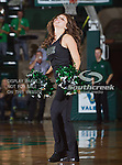 The North Texas Mean Green dance team in action during the game between the Troy Trojans and the University of North Texas Mean Green at the North Texas Coliseum,the Super Pit, in Denton, Texas. UNT defeats Troy 87 to 65.....