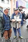 DISCUSSION: Cattle Jobbers, Danny O'Callaghan (Killorglin) and Patrick Leary, discussing the price of animals at Kenmare Fair on Wednesday morning.
