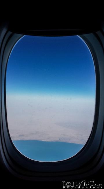 Window seat view over Dubai