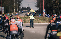 road marchal in (the) action<br /> <br /> 50th GP Samyn 2018<br /> Quaregnon > Dour: 200km (BELGIUM)