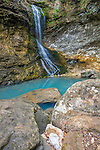 Buffalo National River, Arkansas: Eden falls and blue pool on Eden Creek, Lost Valley