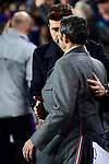 UEFA Champions League 2018/2019 - Matchday 6.<br /> FC Barcelona vs Tottenham Hotspur FC: 1-1.<br /> Pochetino & Ernesto Valverde.