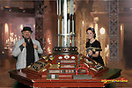 Sylvester McCoy and the Tardis Console