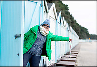 BNPS.co.uk (01202 558833)<br /> Pic: RogerArbon/BNPS<br /> <br /> Penny Evans from Totton, who queued overnight to bag one of the beach huts.<br /> <br /> A group of hardy souls combined two great British traditions to queue out overnight to secure a sought-after beach hut for the summer.