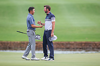 David Lipsky (USA) and Scott Jamieson (SCO) on the 18th during the final round of the Alfred Dunhill Championship, Leopard Creek Golf Club, Malelane, South Africa. 16/12/2018<br /> Picture: Golffile | Tyrone Winfield<br /> <br /> <br /> All photo usage must carry mandatory copyright credit (© Golffile | Tyrone Winfield)