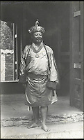 BNPS.co.uk (01202 558833)<br /> Pic: Bonhams/BNPS<br /> <br /> King of Bhutan Sir Gongsa Ugyen Wangchuck.<br /> <br /> Fascinating 112 year-old photographs of Bhutan taken decades before the remote country in the Himalayas became open to outsiders have been unearthed.<br /> <br /> The images provide an unprecedented insight into the isolated kingdom nestled between India and China in the heart of the Himalayas at the beginning of the 20th century. <br /> <br /> The country was almost completely cut off for centuries as it sought to protect its ancient traditions and has only become more accessible to visitors since the 1970s. Such has been their desire to protect their heritage they didn't have TV until 1999.<br /> <br /> The photographs are believed to have belonged to the family of someone who took part in the expedition to Bhutan in 1905 and have since been passed to a private collector.<br /> <br /> The present owner has now decided to submit them for auction and they are tipped to sell for &pound;15,000.