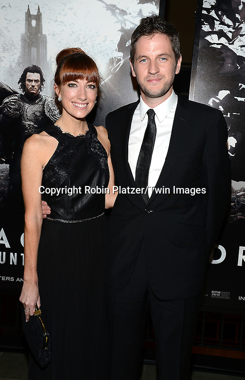 director Gary Shore and fiancee      attends the Special Screening of &quot;Dracula Untold&quot;  on October 6, 2014 at The ABC Loews 34th Street Imax Theatre In New York City. <br /> <br /> photo by Robin Platzer/Twin Images<br />  <br /> phone number 212-935-0770