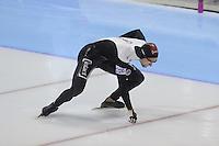 SCHAATSEN: HEERENVEEN: IJsstadion Thialf, 17-11-2012, Essent ISU World Cup, Season 2012-2013, Men 1000 meter Division B, Tyler Derraugh (CAN), ©foto Martin de Jong
