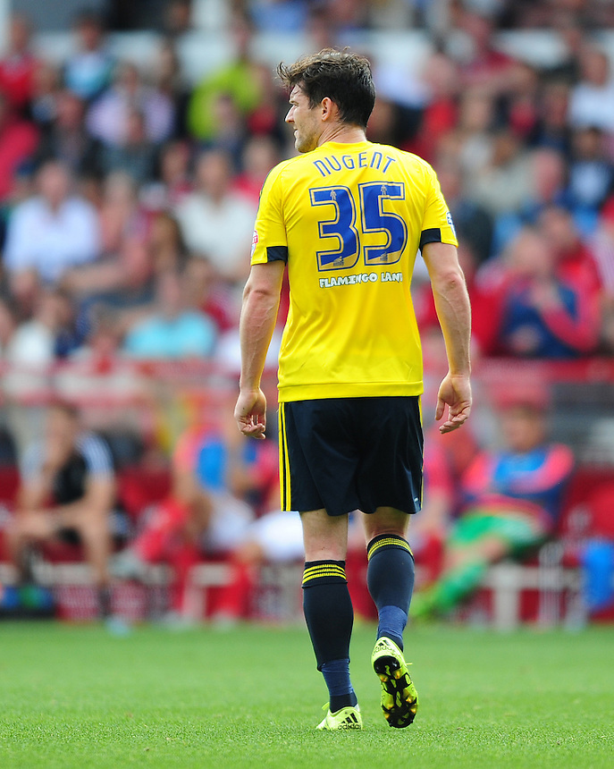 Middlesbrough&rsquo;s David Nugent<br /> <br /> Photographer Chris Vaughan/CameraSport<br /> <br /> Football - The Football League Sky Bet Championship - Nottingham Forest v Middlesbrough - Saturday 19th September 2015 - City Ground - Nottingham<br /> <br /> &copy; CameraSport - 43 Linden Ave. Countesthorpe. Leicester. England. LE8 5PG - Tel: +44 (0) 116 277 4147 - admin@camerasport.com - www.camerasport.com