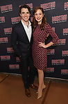 Corey Cott and Laura Osnes attends the 'Bandstand' Broadway cast photo call at the Rainbow Room on March 7, 2017 in New York City.
