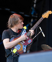 Children Collide performing at the Big Day Out festival, Flemington Racecourse, Melbourne, 26 January 2009