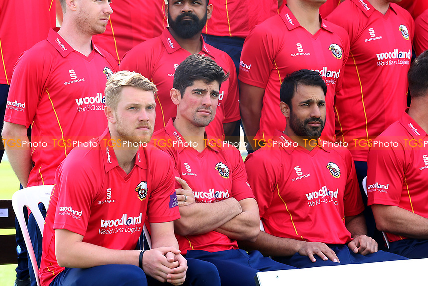 Alastair Cook of Essex (C) looks on during the Essex CCC Press Day at The Cloudfm County Ground on 5th April 2017