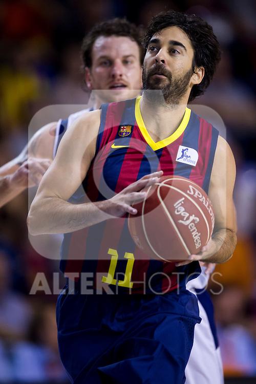 FC Barcelona's Juan Carlos Navarro during Liga Endesa ACB 2013-2014 match against Gipuzkoa Basket Club. November 3, 2013. (ALTERPHOTOS/Alex Caparros)